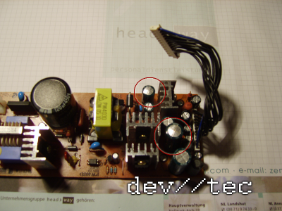 Defektes Humax Netzteil PW403D