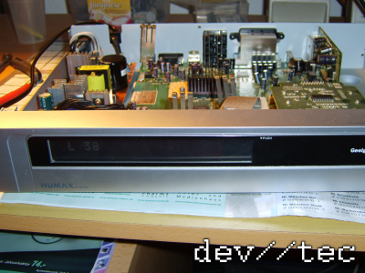Humax HD1000 mit repariertem Netzteil PW403D