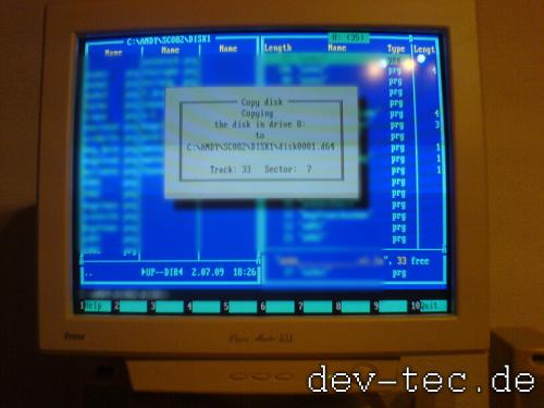 Star Commander beim C64 Disketten kopieren