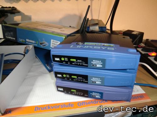 Linksys Router fürs Funknetzwerk