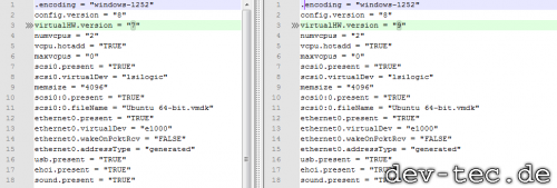 VMWare - Update der Konfigurationsdatei