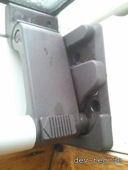 neue Braas Schließplatte - eingebaut